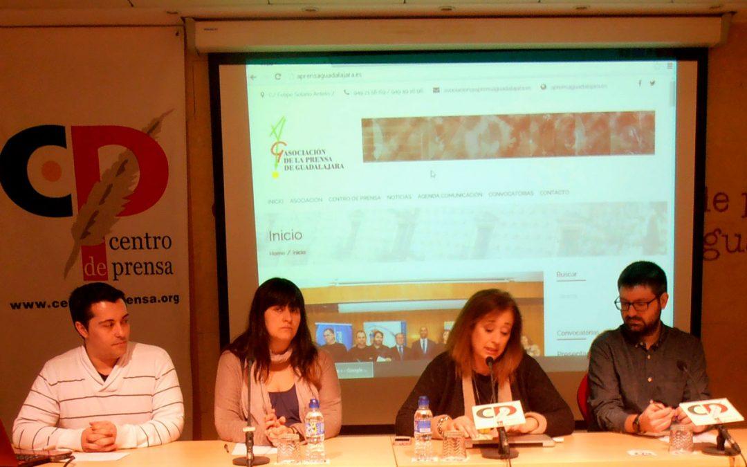 Presentación de la web de la Asociación de la Prensa de Guadalajara